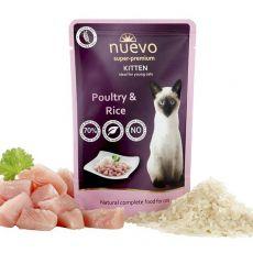 Vrečka NUEVO CAT Kitten Poultry & Rice 85 g