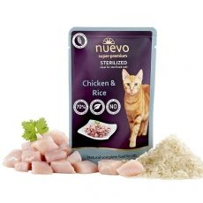 Vrečka NUEVO CAT Sterilised Poultry & Rice 85 g
