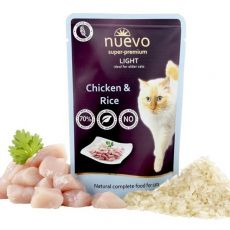 Vrečka NUEVO CAT Light Chicken & Rice 85 g