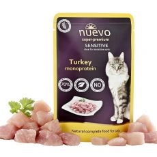 Vrečka NUEVO CAT Sensitive Turkey Monoprotein 85 g