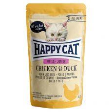 Vrečka Happy Cat ALL MEAT Kitten Junior Chicken & Duck 85 g