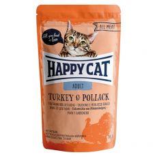 Vrečka Happy Cat ALL MEAT Adult Turkey & Pollack 85 g