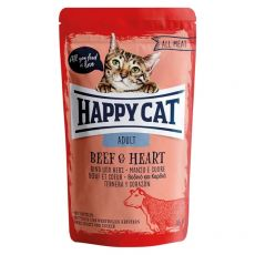 Vrečka Happy Cat ALL MEAT Adult Beef & Heart 85 g