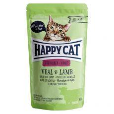 Vrečka Happy Cat ALL MEAT Adult Sterilised Veal & Lamb 85 g