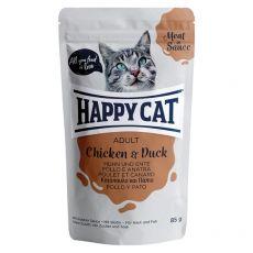 Vrečka Happy Cat MEAT IN SAUCE Adult Chicken & Duck 85 g