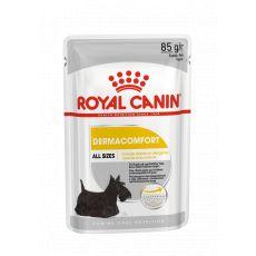 Royal Canin Dermacomfort Dog Loaf vrečka s pašteto za pse s problematično kožo 85 g