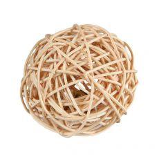 Žoga za glodalce iz ratana z zvončkom 4 cm
