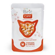 Vrečka Brit Care Cat Chicken & Cheese 80 g