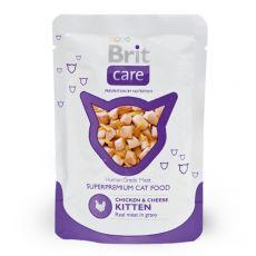 Vrečka Brit Care Kitten Chicken & Cheese 80 g