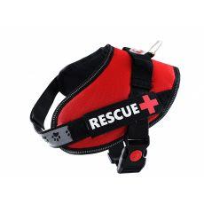 Pasja oprsnica Rescue S 45 - 55 cm, rdeča