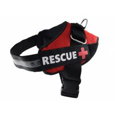 Pasja oprsnica Rescue M 55 - 65 cm, rdeča