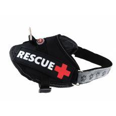 Pasja oprsnica Rescue XS 30 - 40 cm, črna
