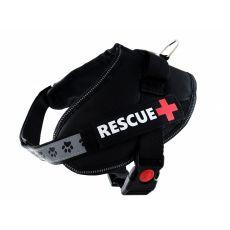 Pasja oprsnica Rescue S 45 - 55 cm, črna