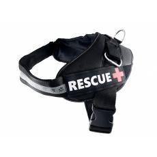 Pasja oprsnica Rescue XXL 80 - 110 cm, črna
