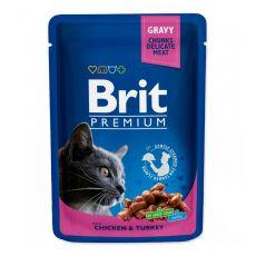 Vrečka BRIT Premium Cat Chicken & Turkey 100 g