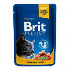 Vrečka BRIT Premium Cat Salmon & Trout 100 g