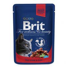 Vrečka BRIT Premium Cat Beef Stew & Peas 100 g