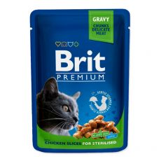 Vrečka BRIT Premium Cat Chicken Slices for Sterilised 100 g