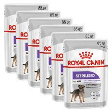 Royal Canin Sterilised Dog Loaf vrečka s pašteto za kastrirane pse 6 x 85 g, 5+1 GRATIS