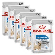 Royal Canin Light Weight Care Dog Loaf dietna vrečka s pašteto za pse 6 x 85 g, 5+1 GRATIS