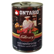 Konzerva ONTARIO Culinary Minestrone Chicken and Pork 400 g