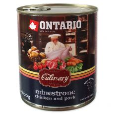 Konzerva ONTARIO Culinary Minestrone Chicken and Pork 800 g