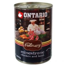 Konzerva ONTARIO Culinary Minestrone Chicken and Lamb 400 g