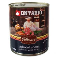Konzerva ONTARIO Culinary Minestrone Chicken and Lamb 800 g