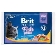 Vrečke BRIT Premium Cat Fish Plate 4 x 100 g