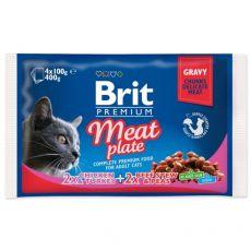 Vrečke BRIT Premium Cat Meat Plate 4 x 100 g
