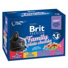 Vrečke BRIT Premium Cat Family Plate 12 x 100 g