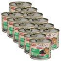 Konzerva mačje hrane CARNY ADULT z govejim, puranjim in zajčjim mesom - 200 g