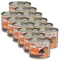 Mokra hrana CARNY ADULT govedina + piščanec 12 x 200 g