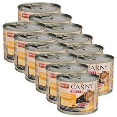 Konzerva mačje hrane CARNY ADULT iz govedine in piščančjih ter puranjih src 12 x 200 g