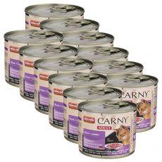 Mokra hrana CARNY ADULT govedina + jagnjetina 12 x 200 g