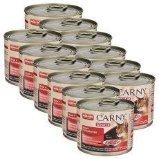 Mokra hrana CARNY SENIOR govedina + puranja srca 12 x 200 g