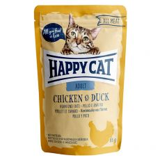 Vrečka Happy Cat ALL MEAT Adult Chicken & Duck 85 g