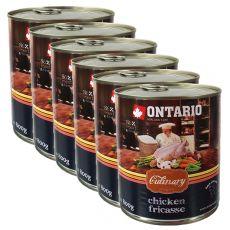 Konzerva ONTARIO Culinary Chicken Fricasse 6 x 800 g