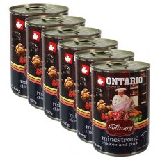 Konzerva ONTARIO Culinary Minestrone Chicken and Pork 6 x 400 g