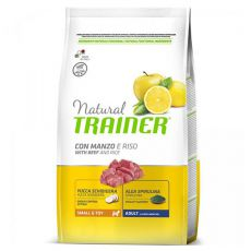 Trainer Natural Small and Toy Adult, govedina in riž, 2 kg
