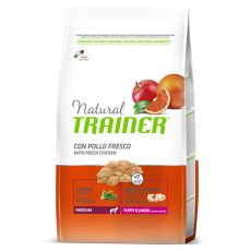 Trainer Natural Medium Puppy & Junior fresh chicken 12 kg