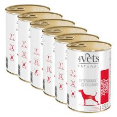4Vets Natural Veterinary Exclusive KIDNEY SUPPORT 6 x 400 g