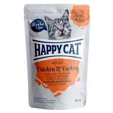 Vrečka Happy Cat MEAT IN SAUCE Adult Chicken & Turkey 85 g
