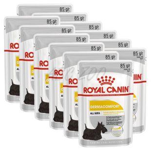 Royal Canin Dermacomfort Dog Loaf vrečka s pašteto za pse s problematično kožo 12 x 85 g