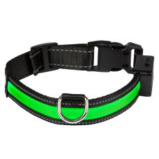 Svetleča USB ovratnica EYENIMAL, zelena S