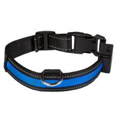Svetleča USB ovratnica EYENIMAL, modra M