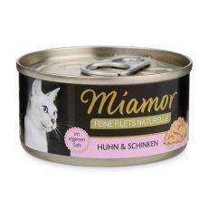Konzerva Miamor Feine Filets piščanec in šunka v omaki 80 g