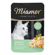 Vrečka Miamor Feine Filets tuna in zelenjava v želatini 100 g