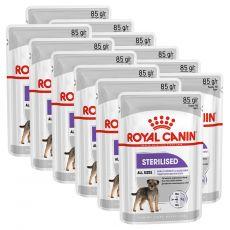 Royal Canin Sterilised Dog Loaf vrečka s pašteto za kastrirane pse 12 x 85 g