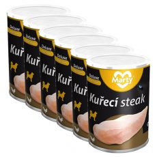 Konzerva MARTY Deluxe Chicken Steak 6 x 300 g